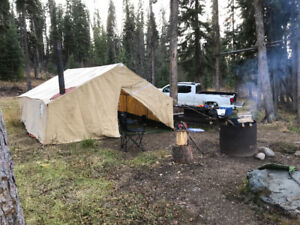 Canvas wall tent,