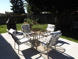 4 Chair Patio set with Swing