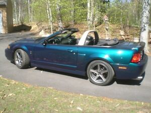 2004 MUSTANG SVT COBRA CONVERTIBLE, SUPERCHARGED,  MYSTICHROME