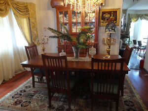 Dining room set, table,  six chairs ,sideboard and htuch