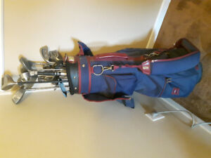 Set of right handed Wilson golf clubs