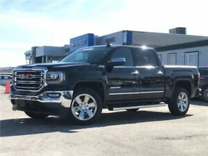 2017 GMC Sierra 1500 SLT, LEATHER, NAVIGATION, CREW, NO ACCID...