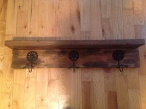 Rustic Wall Hanger with Shelf