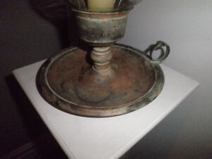 Gorgeous! Amazing Patina! Hurricane Candle Stand