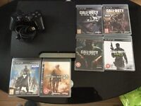 PS3 with 6 games