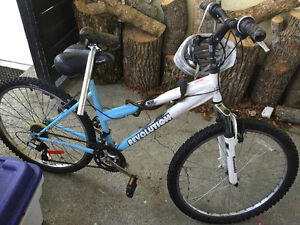 Adult Mountain Bike + Lock/ Seat/Helmet