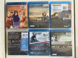 6 Blue ray Movies,