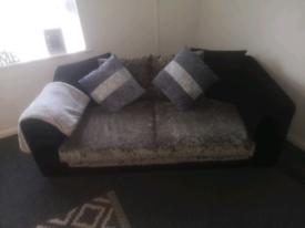 Soffa crushed velvet