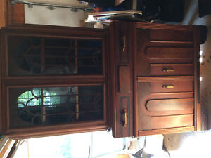 Antique China cabinet and matching dining room table