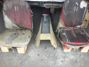65 galaxie bucket seats and console