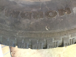 """5 studed 15 """"  winter tires."""