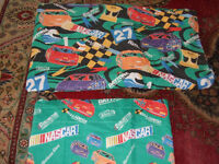 Nascar twin blanket and window valance