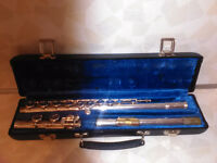 GEMEINHARDT BRAND NAME STAMPED FLUTE WITH GOLD PLATED MOUTHPIECE