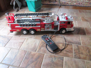 Toy battery operated fire truck