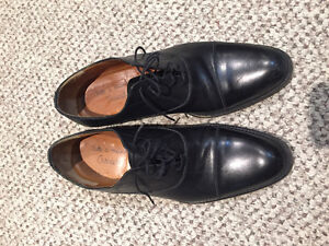 Custom made Black Italian Leather dress shoes