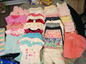 bag of 3-6 month baby girl clothes like new