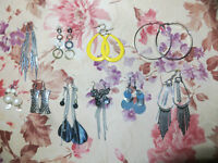 10 different earings (used)