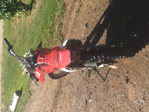 2005 Honda crf 80, works great just needs back rim and tire.