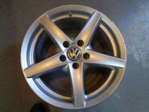 Two Silver VW Rims for GTI. Will fit an Audi as well. Ex cond.