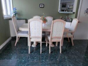 mobilier salle a manger Bois de CHÊNE Solide 6 chaises