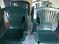 Solid Plastic Green Chairs- $10 each! Excellent Condition!