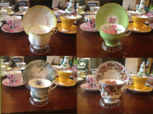 $Reduced$- Vintage English China Teacup & Saucer Sets -$Reduced$