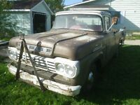 1959 Ford  F100 w/1957 Front Clip Runs&Drives $1400
