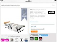 JAY-BE single folding bed with mattress (gust bed) very good condition