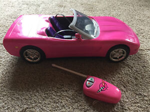 Barbie Pink Corvette with Remote control