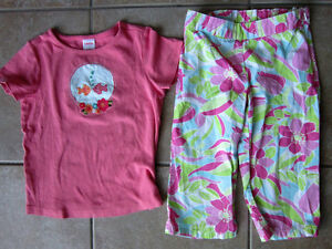 Gymboree Girls Size 4-5 'Palm Springs' Line Outfit