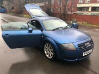 Audi TT Coupe 1.8 180 bhp 2004 T quattro. MOT, MAY, 2019. LOVELY IN BLUE.