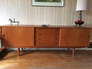 Mid-Century Modern Teak Sideboard/ Credenza By Clausen and Son