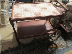 Tiled Tea Trolley