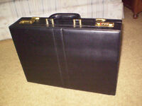 Padded leather attaché case