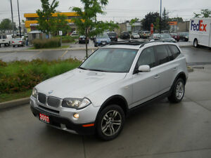 2007 BMW X3 AWD, Leather, Sunroof, Auto, 3/Y warranty available