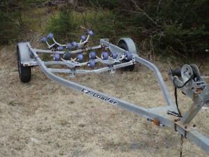 Boat Trailer = Galvanized 2100 pound 17 - 19 foot boat
