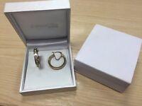 9ct gold hoop earrings - brand new