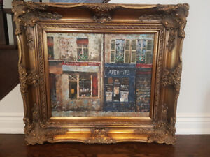 French Boutiques Painting (large size)