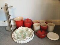 Le Creuset mugs pots