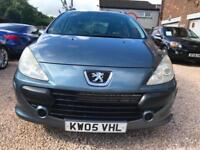 PEUGEOT 307 1.6 GREY ESTATE WRRANTY 12 MONTHS MOT