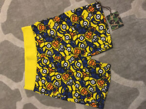 BAPE SHORTS limited despicable me baby milo collab.