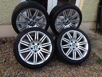"18"" BMW E60 535d Spyders Alloys 5x120 520d 525d 530d 320d 330d"