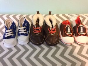 3 pairs of baby shoes