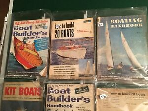 8 VINTAGE BOAT MAGAZINES_PLANS -HOW TO- Sarnia Sarnia Area image 2