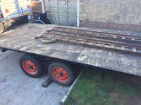 12ft car transporter/flat bed trailer