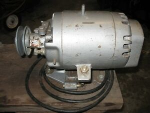 Electric motor with brake