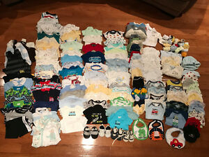 Huge lot of 0-3 Months Boys Clothing!!