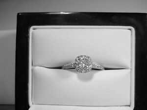 New 1.05 TCW Certified Diamond Halo Engagement Ring