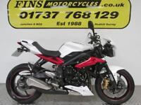 2015 Triumph Street Triple 675, Hardly used, Mint condition, White/Red, 1 Owner.