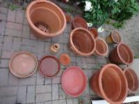 Great for indoor Gardening -10 Terra Cotta Clay Flower Pots